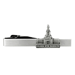 Columbia River Temple Tie Bar - Silver