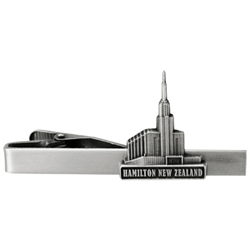 Hamilton New Zealand Temple Tie Bar - Silver