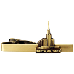 Hamilton New Zealand Temple Tie Bar - Gold
