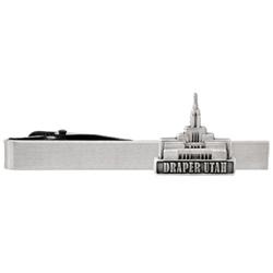Draper Utah Temple Tie Bar - Silver