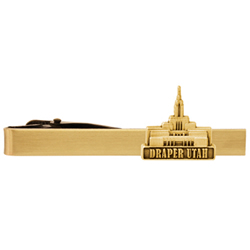 Draper Utah Temple Tie Bar - Gold