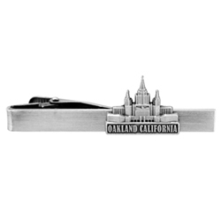 Oakland California Temple Tie Bar - Silver