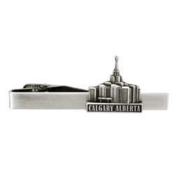 Calgary Alberta Temple Tie Bar - Silver