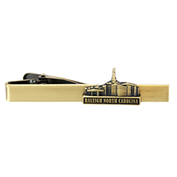 Raleigh North Carolina Temple Tie Bar - Gold