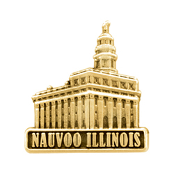 Nauvoo Illinois Temple Pin - Gold
