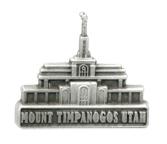 Mount Timpanogos Utah Temple Pin - Silver