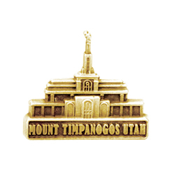 Mount Timpanogos Utah Temple Pin - Gold