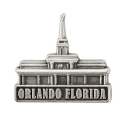 Orlando Florida Temple Pin - Silver