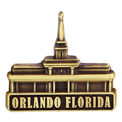 Orlando Florida Temple Pin - Gold
