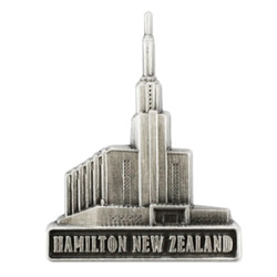 Hamilton New Zealand Temple Pin - Silver