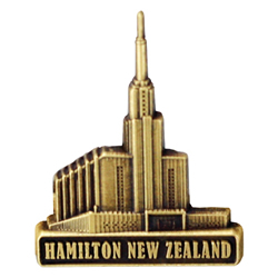 Hamilton New Zealand Temple Pin - Gold