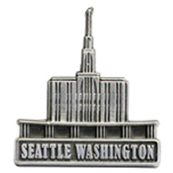Seattle Washington Temple Pin - Silver
