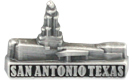 San Antonio Texas Temple Pin - Silver