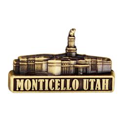 Monticello Utah Temple Pin - Gold