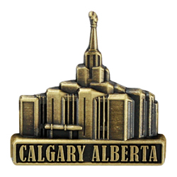 Calgary Alberta Temple Pin - Gold