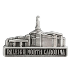 Raleigh North Carolina Temple Pin - Silver