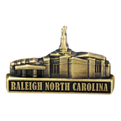 Raleigh North Carolina Temple Pin - Gold