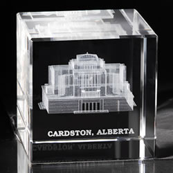 Cardston Temple Cube