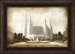 Washington D.C. Temple - Vintage Framed