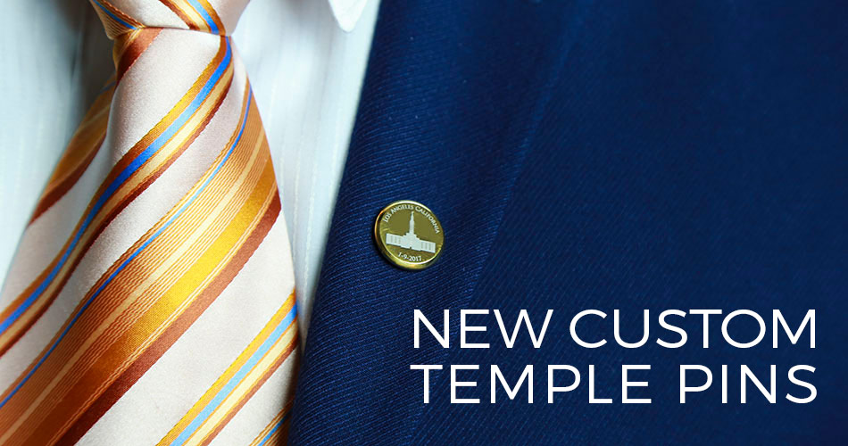 Custom LDS Temple Pin