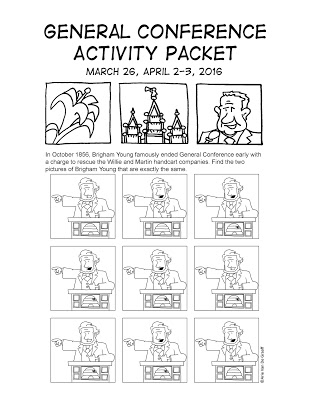 general conference activity pages - Coloring Packets