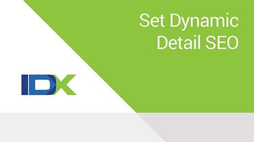 Dynamic Detail Page SEO