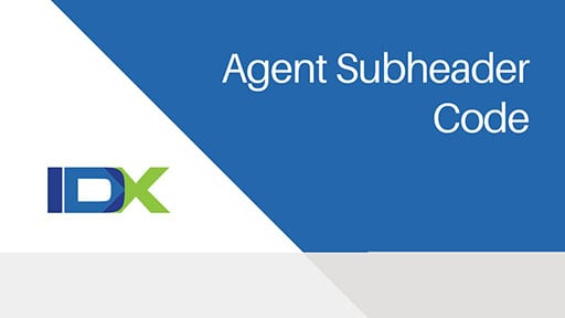 Agent Subheader Code