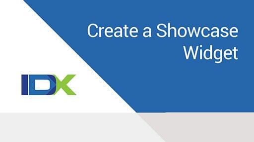 Create a Showcase Widget