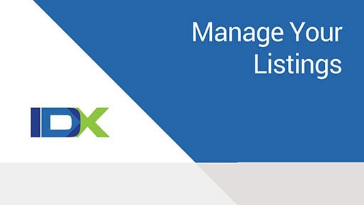 Manage Listings