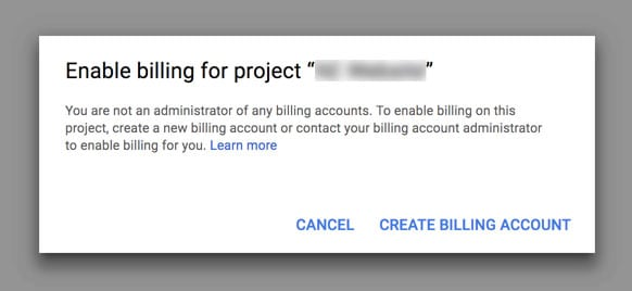 Enable Billing for Google Maps Project