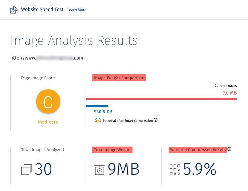 Website Image Optimization Analysis