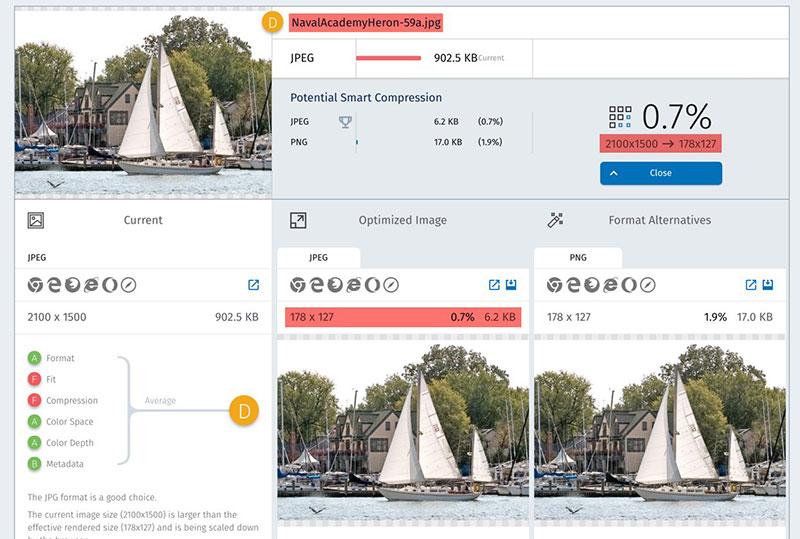 Website Speed Test Image Optimization