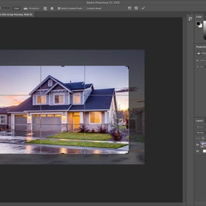 Crop images with Photoshop