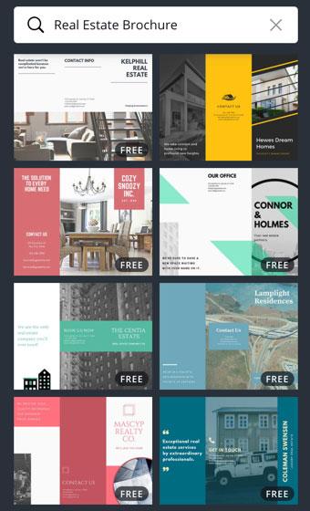 Canva real estate brochure templates