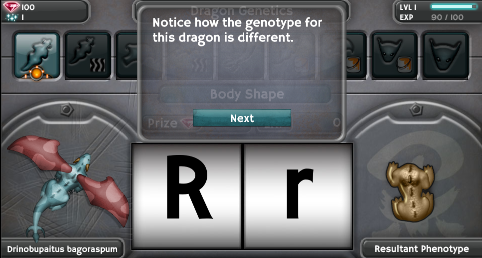 breed your own dragons and learn genetics