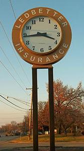 Ledbetter Insurance Clock