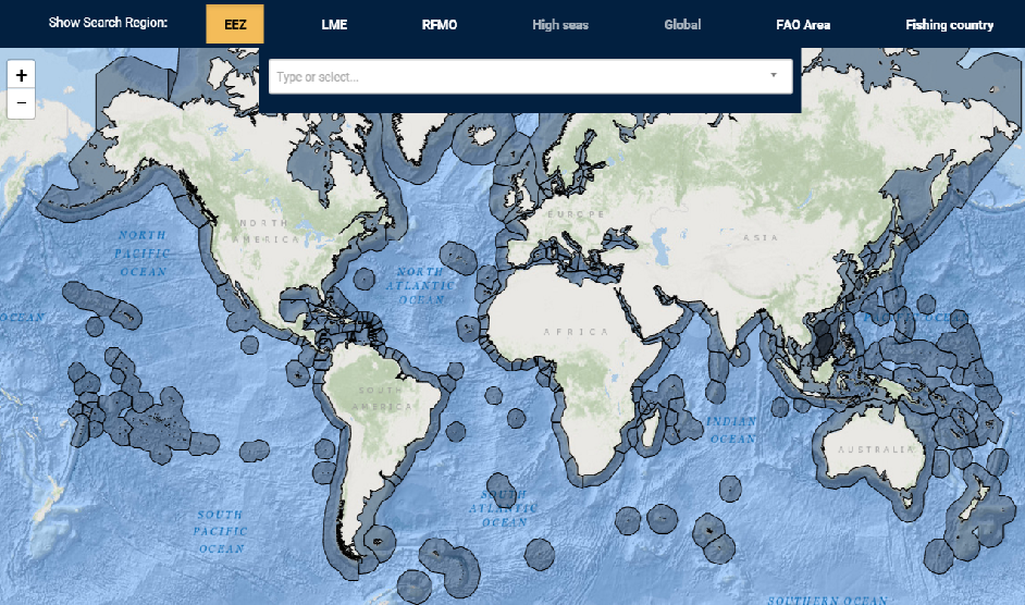 Getting Started With Sea Around Us Tools Sea Around Us - Us eez map