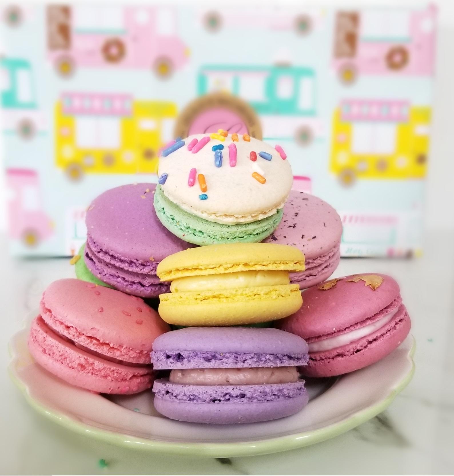 Superb Birthday Cake Celebration Macarons Box Of 12 Funny Birthday Cards Online Elaedamsfinfo