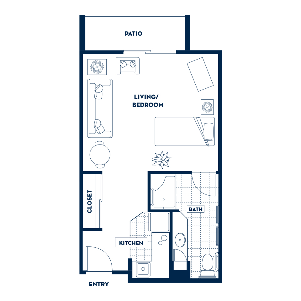 Small One Bedroom Apartment Floor Plans. Gallery Of One Bedroom ...