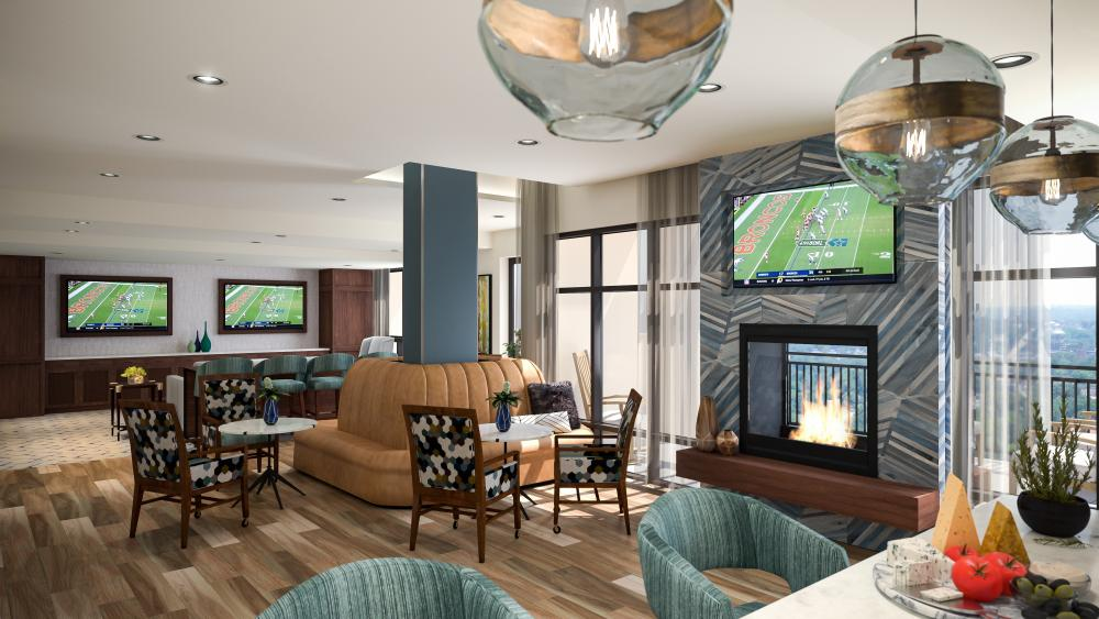 Rendering of the Sky Lounge at The Carillon at Belleview Station