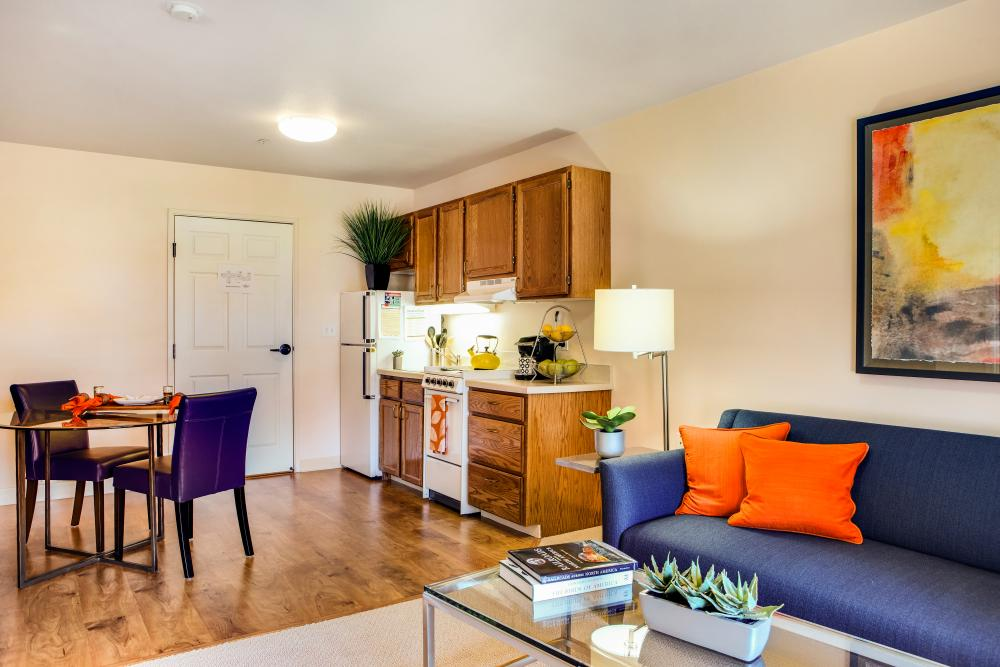 Kitchen and Dining - Springfield Place Senior Apartments