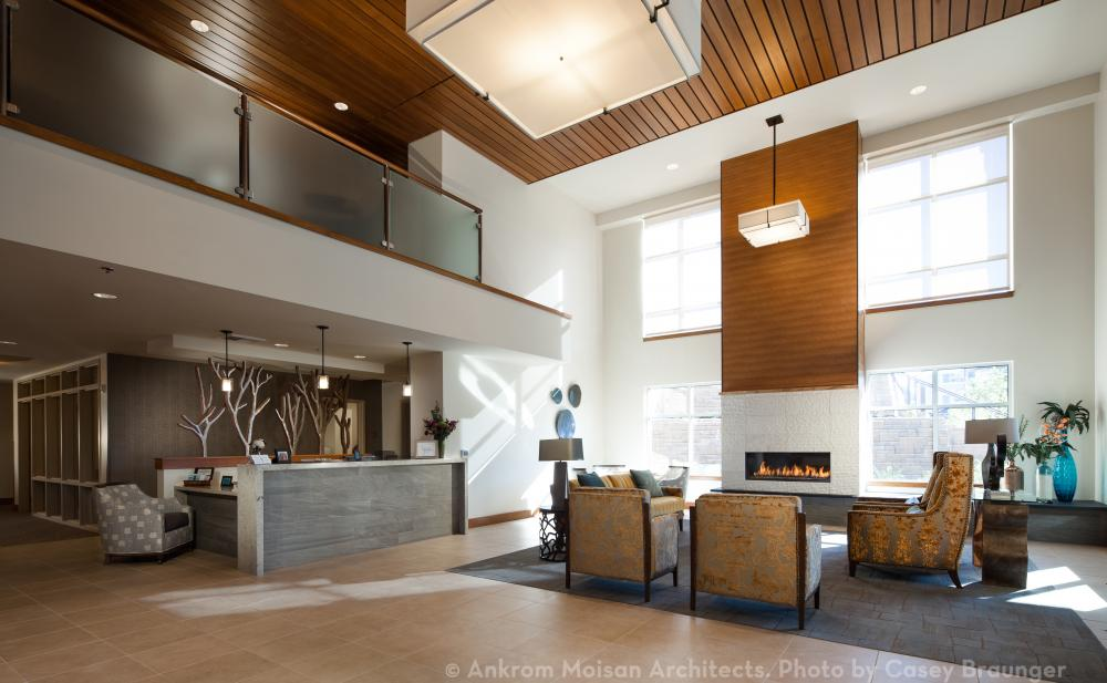 The Lobby at The Ackerly at Timberland