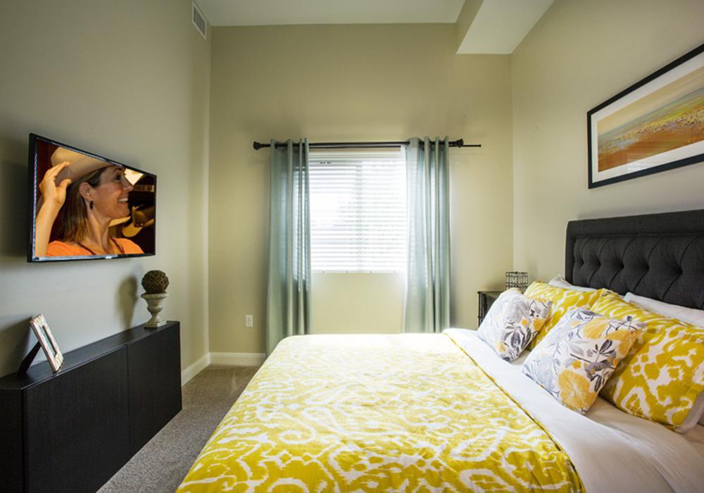 Bedroom - Treeo Senior Apartments in Orem