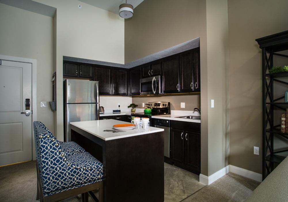 Kitchen - Treeo Senior Apartments in Orem