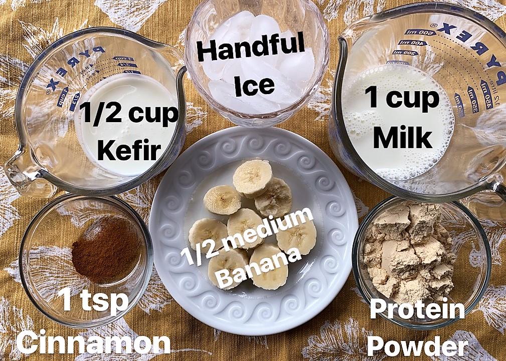 Angela's smoothie ingredients
