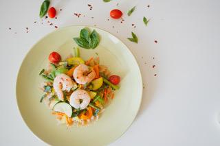 Shrimp & Veggies by Leah Falsetto