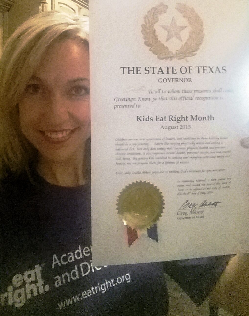 Proclamation - Kids Eat Right Month