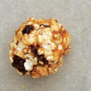 Chocolaty Pretzel & Cherry Popcorn Balls