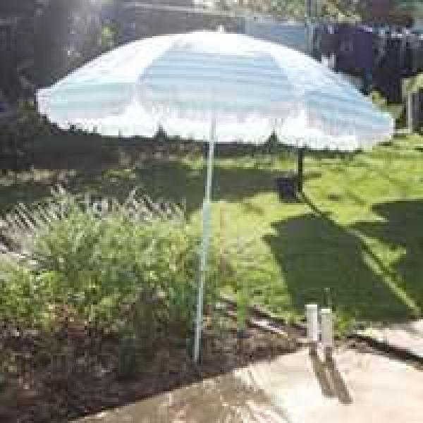 Borrow Blue And White Striped Retro Umbrella