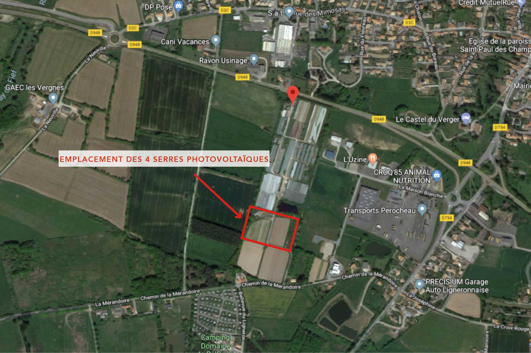 Emplacement Projet Google Map